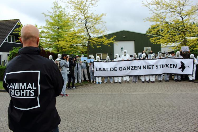 Demonstratie bij Duke Faunabeheer.