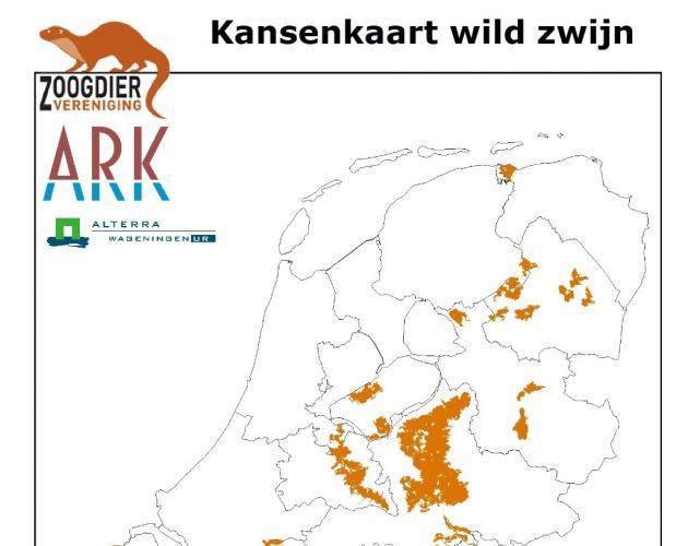Kansenkaart wild zwijn (2010).