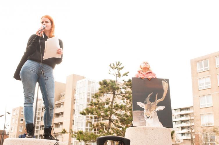 Toepsraak Jessica Smit, campagneleider Animal Rights.